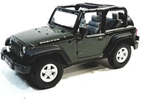 Welly Forest Green Jeep Wrangler Rubicon Hardtop 1/38 O Scale Diecast Car