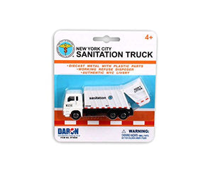 "Daron New York City SANITATION DEPT 4.5"" Waste Disposal Garbage Truck"