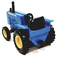 "SF Toys Blue Power Farmall Tractor 4"" Ride-On Farm Vehicle 1/38 O Scale Diecast"