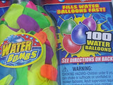 Water Bomb Ballon Pump EZ Soda Or Water Bottle Nozzle With 100 Ballons.