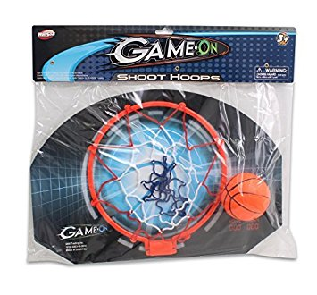 "Hunson Game On Shoot Hoops 11"" Backboard Hoop & Net With (1) 2.75"" Soft Rubber Basketball"