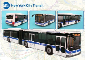 Daron NYC MTA Articulated Hybrid Bus Replica 1/45 O Scale Model