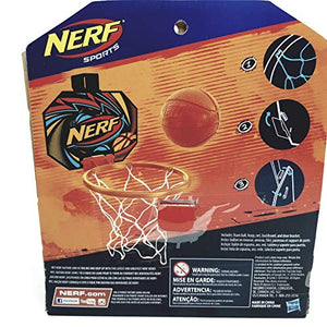 NERF Nerfoop Jump Shot Basketball Set Mini Orange Soft Foam Basketball & Plastic Hoop with Net