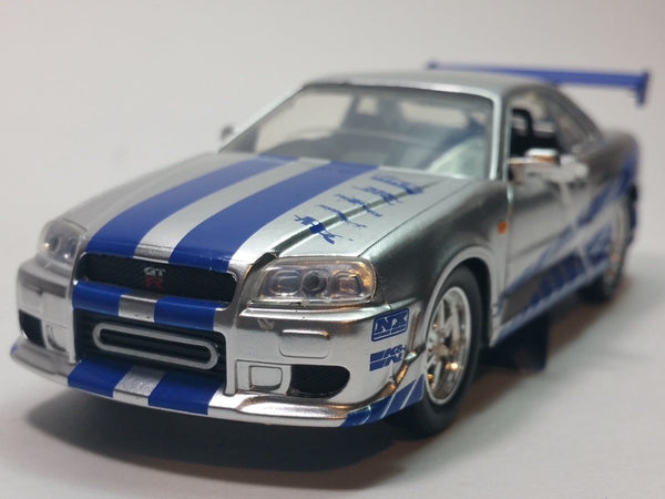 Jada Fast & The Furious Brian's Silver Nissan Skyline GT-R 1/32 Scale Diecast...