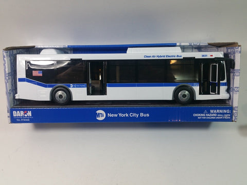 "DARON NEW YORK CITY NYC MTA M4 HYBRID BUS REPLICA 1/50 0 SCALE 11"" ORION VII ..."