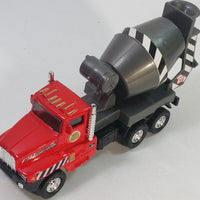 "Red International Cement Mixer Truck 5.25"" Commercial Construction Diecast"