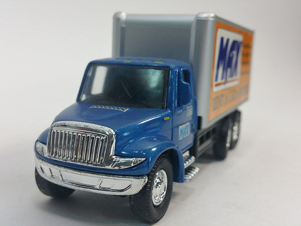 Showcasts International Blue & Silver MAX Moving Box Truck 1/48 Scale Commerc...