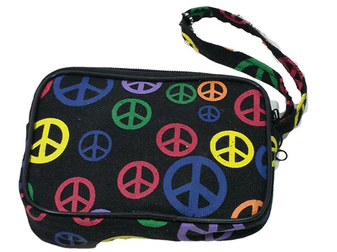 Black Peace Sign Designer Inspired Wallet /Coin Purse Mini Bag 1 Compartment ...