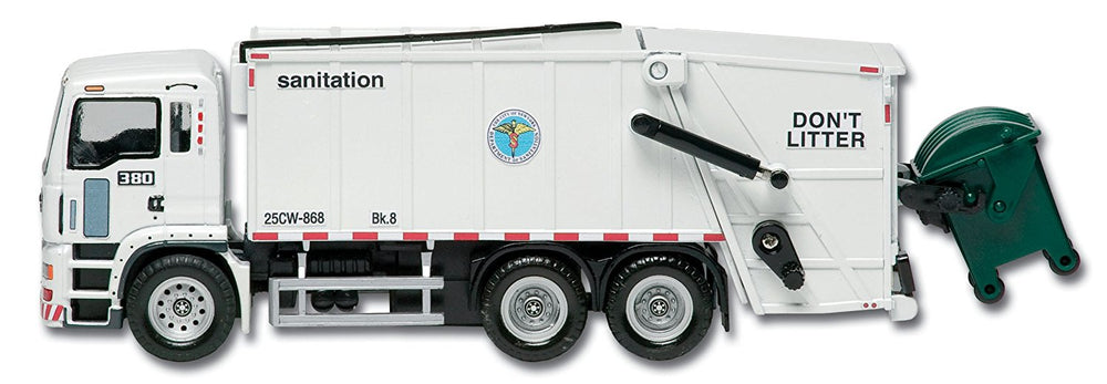 DARON New York City SANITATION DEPT Waste Disposal Garbage Truck 1/50 S Scale