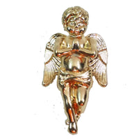 "Praying Angel Folded Hands Gold Plated Micro Pendant 1.5"" 3D Piece"