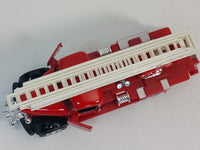 "Showcast Classic Red & Silver Fire Engine with Ext Ladder 6"" Diecast Truck"