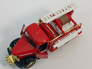 "Showcasts Classic Red & Gold Fire Engine 6"" Diecast Fire Dept Rescue Truck"
