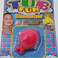 TUB FUN Pink Dolphin Light Up Water Toy Pool Or Bathtub LED Flashing