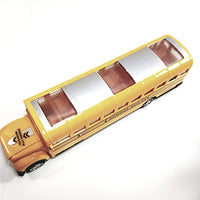 SF Toys Lights & Sounds Yellow School Bus B/O with Bump & Go Action