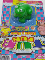 TUB FUN Green Frog Light Up Water Toy Pool Or Bathtub LED Flashing