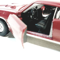 Welly Pontiac GTO 1969 Burgundy Hard Top 1/38 O Scale Diecast Car