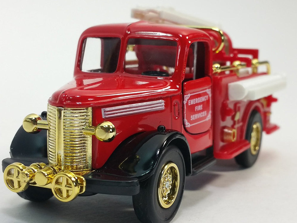 Showcasts Classic Red & Gold Fire Engine 6