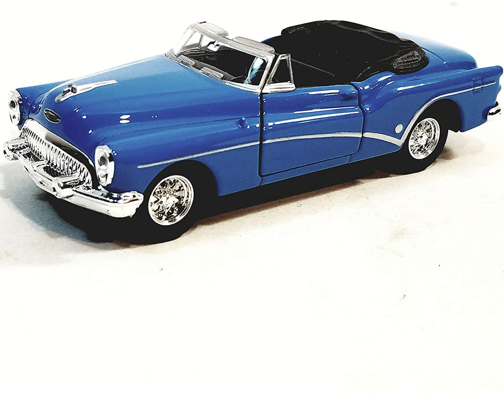 Welly 1953 Sky Blue Buick Skylark Top Down Convertible 1/34 Scale Diecast Car