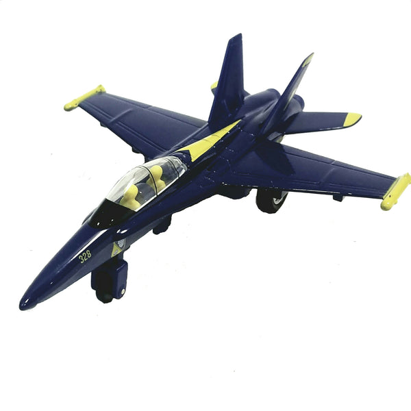 "X-Force Commander Blue Angels US Navy Boeing F/A-18 Hornet Demo Squad Aircraft 7"" Large Diecast Plane"
