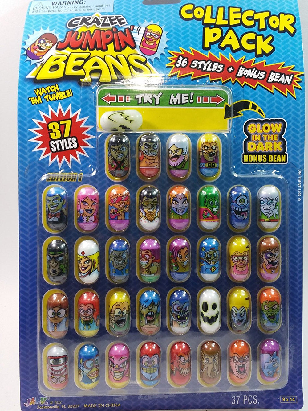 Crazee Jumpin Beans Series 1 Complete Set Of 37 Beans ( For Mighty & Crazy Be...