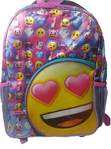 "New Emoji Black Large 16"" School Bag/Knapsack/Backpack"