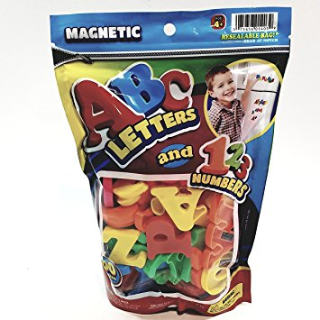 ABC & 123 Magnetic Letters & Numbers 60 Piece Plastic Preschool Toy