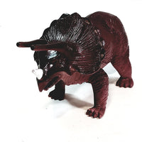 "DINO-WORLD Dinosaurs Large Triceratops 3.5"" Tall & 10"" Long Plastic Figure"