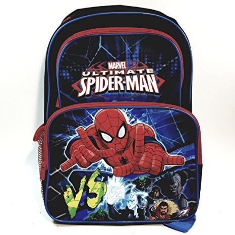New Amazing Spiderman VS The Villains Blue & Black School Bag/Knapsack/Backpack Electro The Rhino Goblin