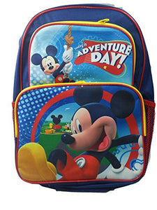 "New Mickey Mouse Adventure Day Blue Large 16"" School Bag/Knapsack/Backpack"
