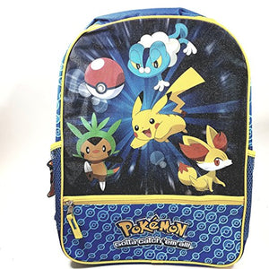 "New Pokemon (Pikachu) Blue 16"" School Bag/Knapsack/Backpack"