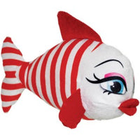 "National Prize White & Red 10"" Plush Kissing Fish Pouty Red Lips"