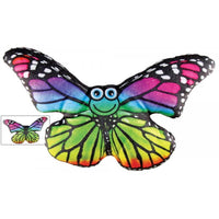 "National Prize Rainbow Colorfull 11"" Plush Butterfly"