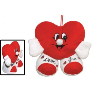 "National Prize ""Mr Love"" Red 10"" Plush Heart With Hands & Feet"