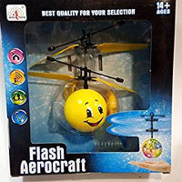 Flash Aerocraft Infra Red Sensor Bashful Eyes Face Peace Sign Emoji Face Helicopter Face Remote Control Helicopter R/C Copter Heli Ball