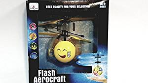 Flash Aerocraft Infra Red Sensor Smiley Face Peace Sign Emoji Face Helicopter Face Remote Control Helicopter R/C Copter Heli Ball