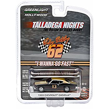 Greenlight Talledega Nights 1969 Chevy Chevelle Hollywood (8)1/64 Diecast Car