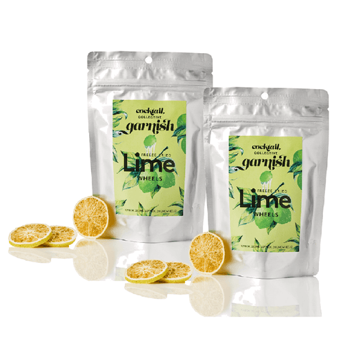 2 packets freeze dried lime wheels | cocktail collective