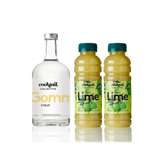 Cocktail collective Gomme Syrup 500ml | 350 pure lime juice duo | Cocktail Collective