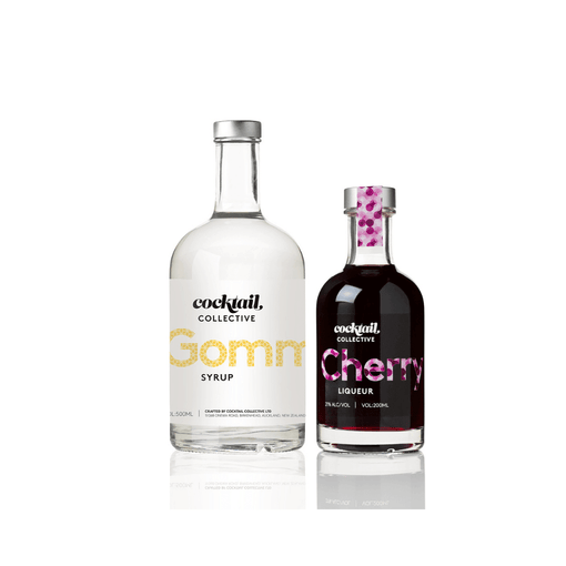 Cocktail Collective Gomme Syrup 500ml | Cocktail collective Cherry Liqueur 200ml | Cocktail Collective