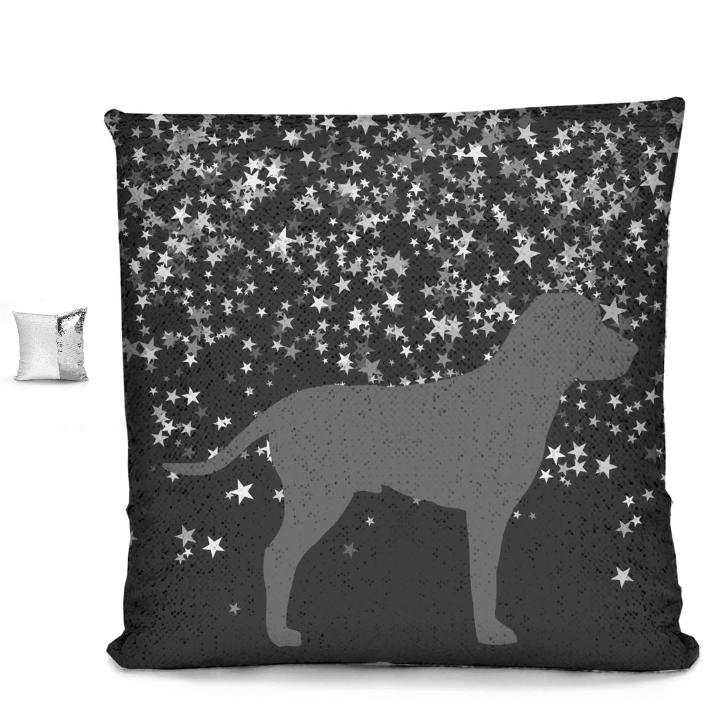 Dog Under Silver Stars Sequin Pillows - RuffRuffShop.com