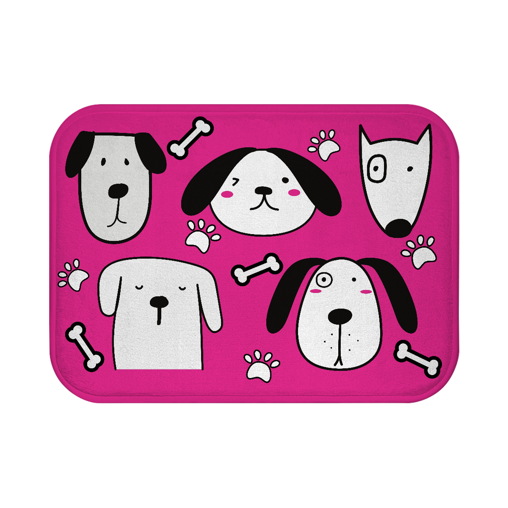 Cute Puppies Bath Mat - Pink - RuffRuffShop.com