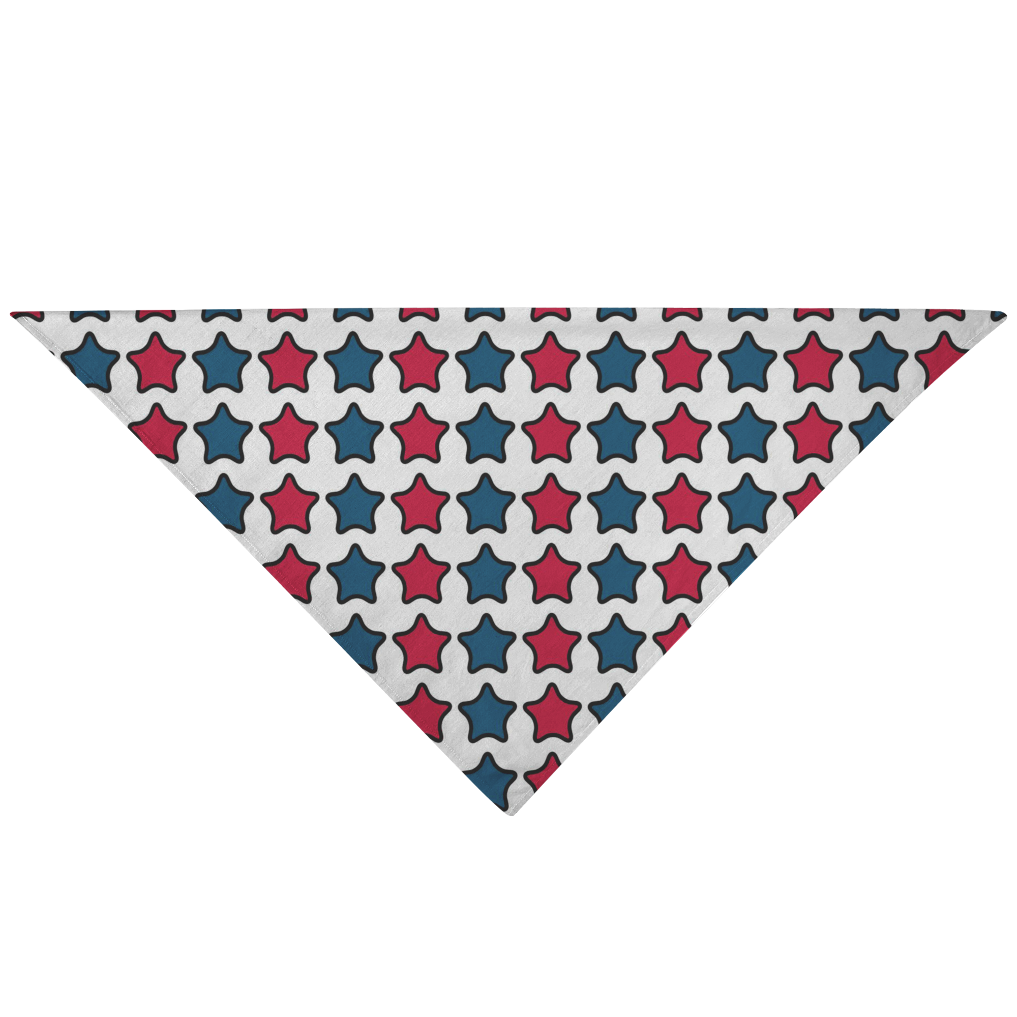 Blue and Red Stars Dog Bandana - RuffRuffShop.com