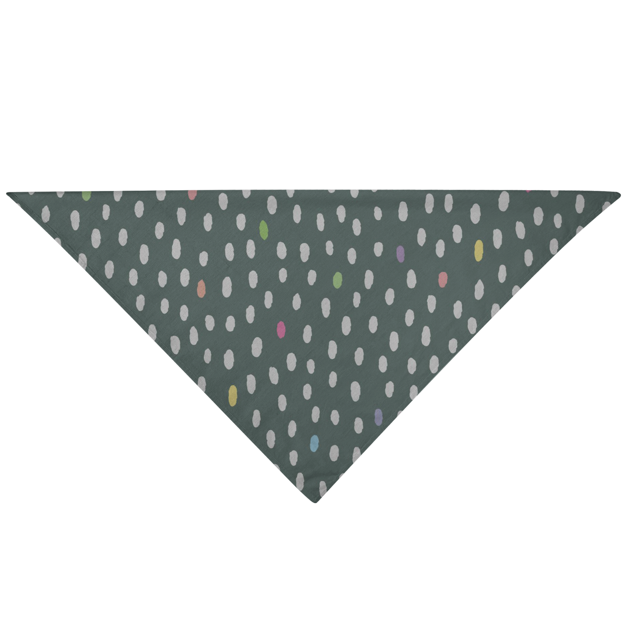 Dog Bandana - Gray Dots - RuffRuffShop.com