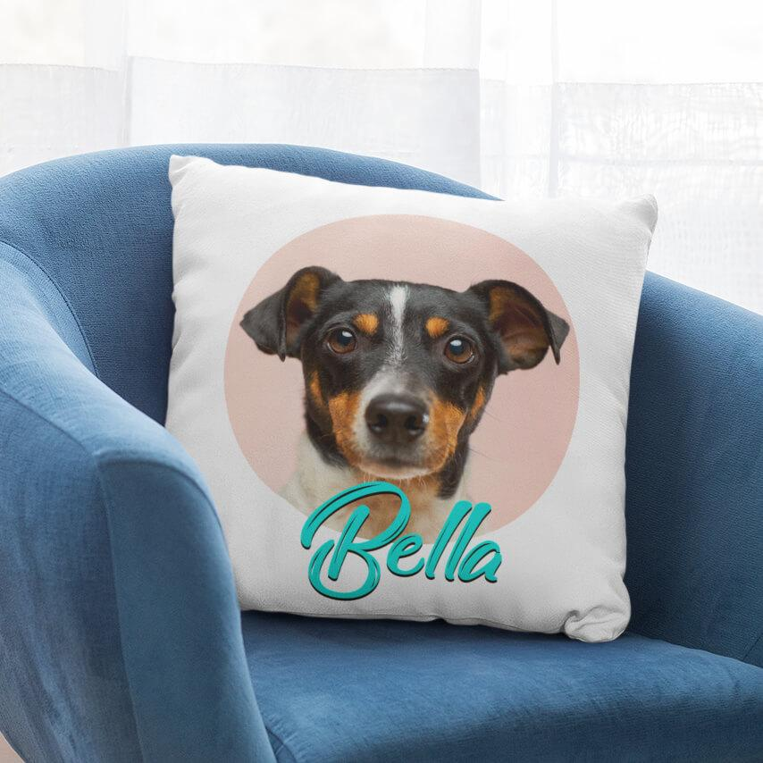 Pet Portrait Linen Pillow & Insert - RuffRuffShop.com