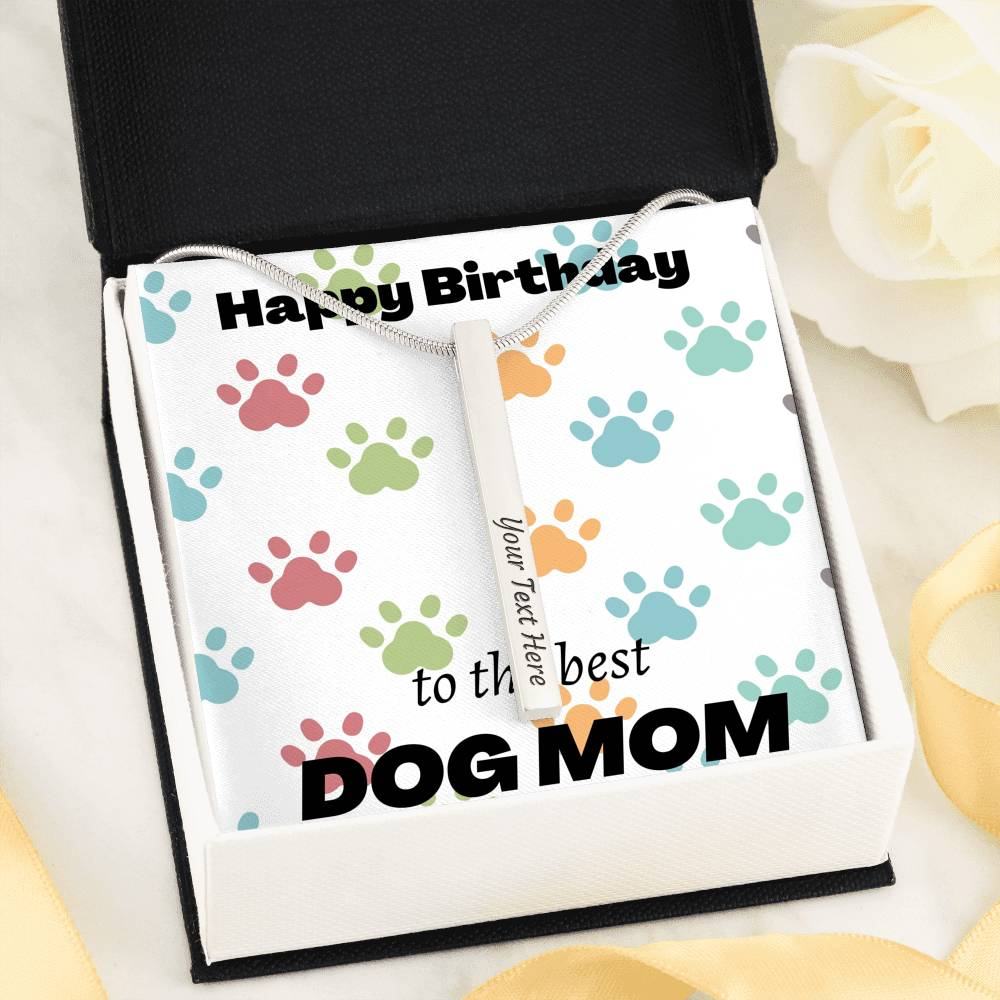 Birthday Gift To The Best Dog Mom Personalized Pendant Necklace - RuffRuffShop.com