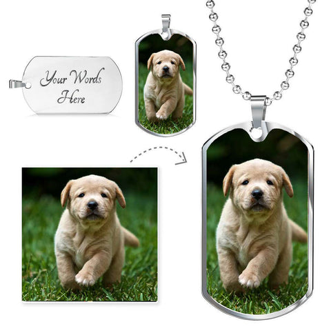 Personalized Luxury Dog Tag Necklace