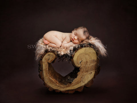 Newborn Photography Digital - Natural Wood piece