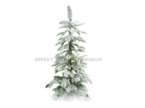 Christmas digital prop - Snowy Christmas Tree