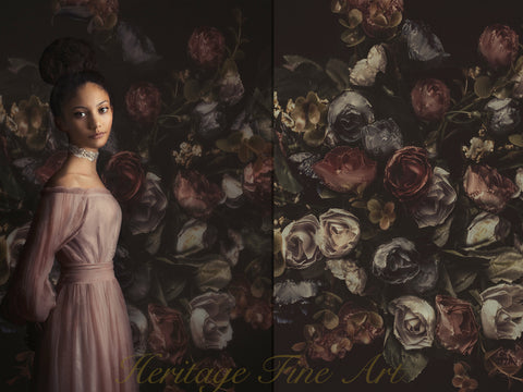 Texture - Vintage Rose Bouquet