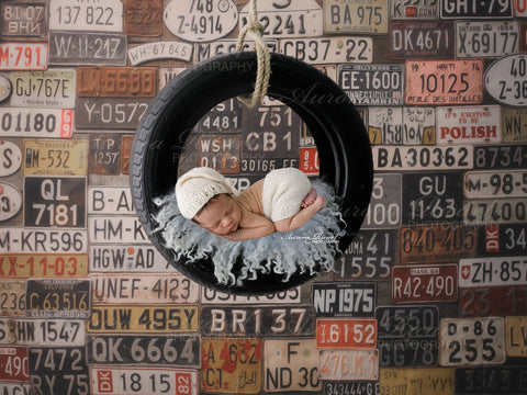 Newborn Digital Backdrop - Little mechanic